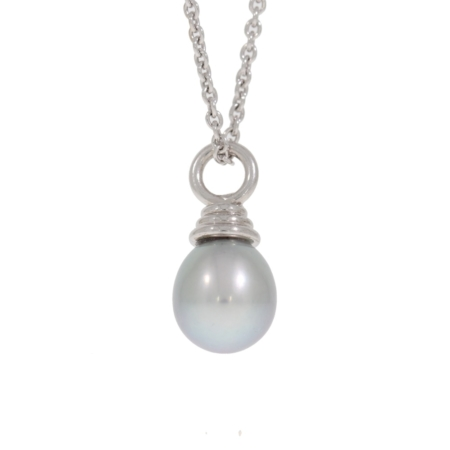 South sea pearl drop pendant. Designed and made by JMK Goldsmiths, Kilkenny.