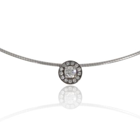 White gold diamond pendant.