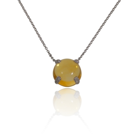 Domed ditrine gold pendant