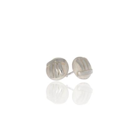 Silver dolmen stones stud earring.