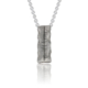 Oxidised Silver Ogham Pendant on Chain