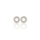 Diamond encrusted 18ct white gold halo earrings