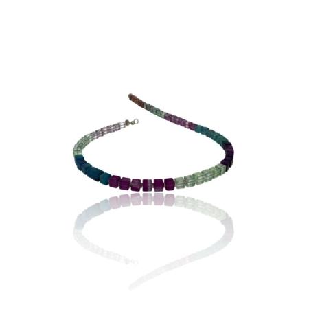 Mulit-coloured flourite necklace