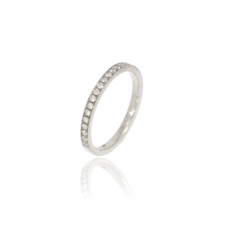 Pavé-set diamond gold ring