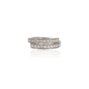 Platinum wrap ring with 22 pave-set brilliant diamonds